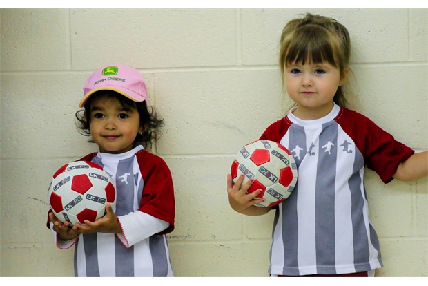 little kickers with footballs